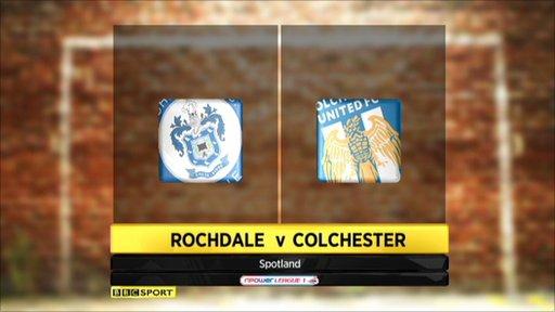 Rochdale 2-2 Colchester