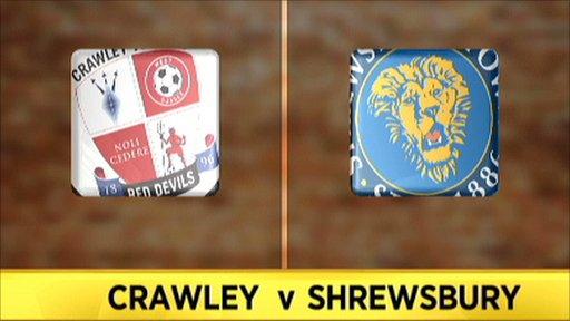 Crawley v Shrewsbury