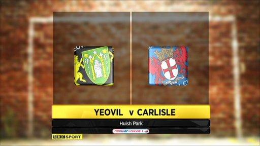 Yeovil 3-0 Carlisle