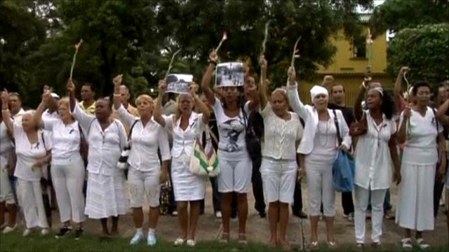 Ladies in White march in Havana