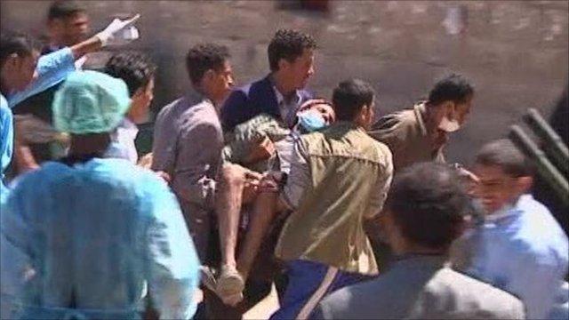 Injured demonstrator