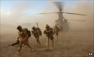 Troops in Helmand Province, Afghanistan