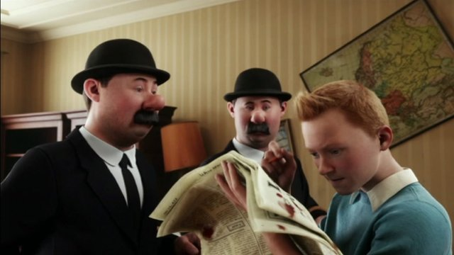 A scene from The Adventure of Tintin: The Secret of the Unicorn