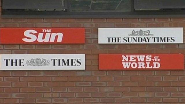 News International newspaper symbols