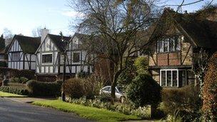 Large detached homes
