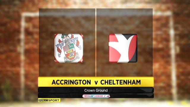 Accrington Stanley 0-1 Cheltenham Town