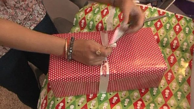 Present being wrapped
