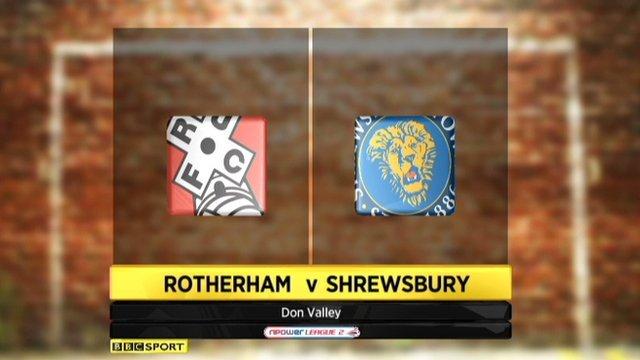 Rotherham v Shrewsbury