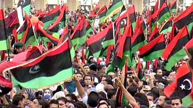 Celebrations in Libya's Freedom Square