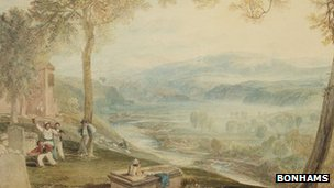 The watercolour by JMW Turner