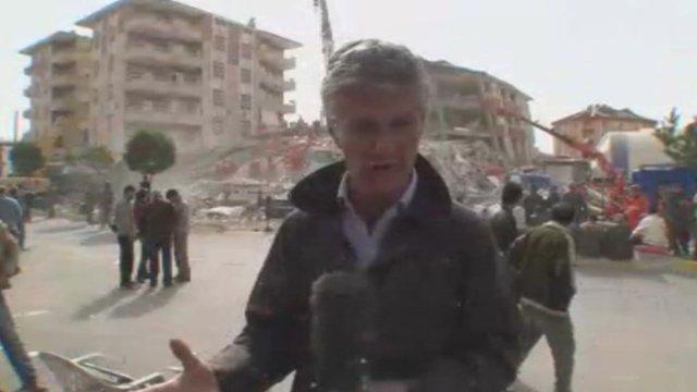 BBC's Tim Willcox in Ercis