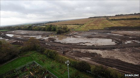 Mud at building site