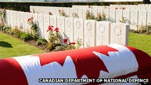 Graveside/Pic: Canadian Department of National Defence
