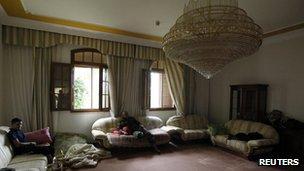 One of Col Gaddafi's homes in Sirte