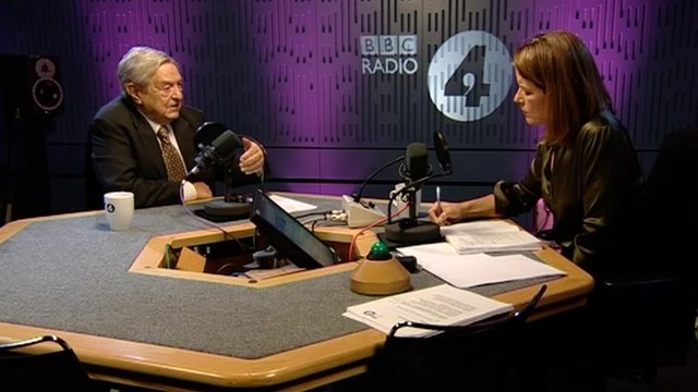 George Soros and Stephanie Flanders