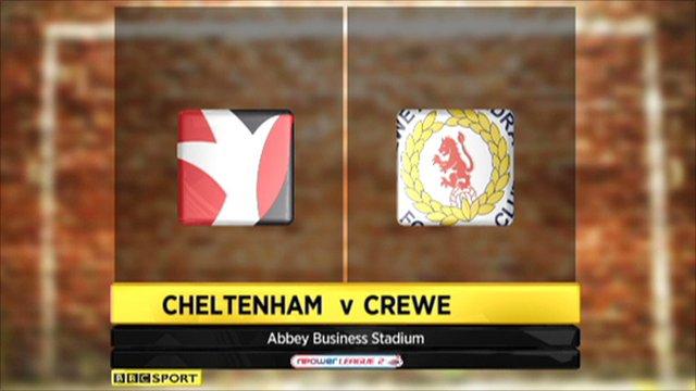 Cheltenham 0-1 Crewe