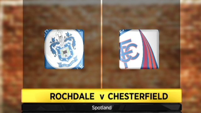 Highlights - Rochdale 1-1 Chesterfield