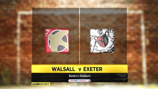 Walsall 1-2 Exeter