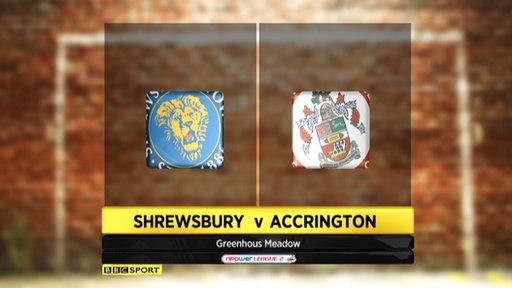 Shrewsbury 1-0 Accrington