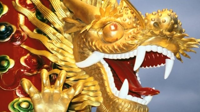Statue of Chinese dragon