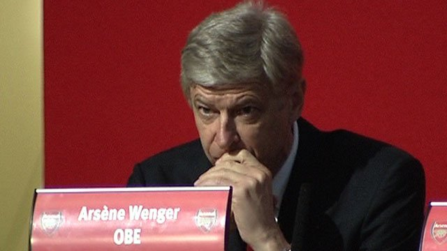 Arsenal manager Arsene Wenger at the club's AGM