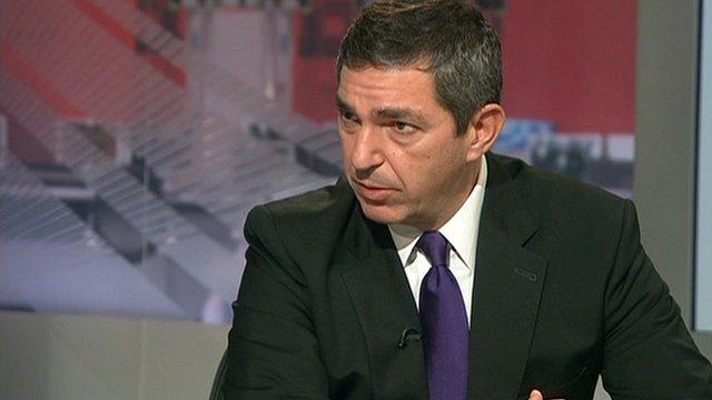 Greek Foreign Minister Stavros Lambrinidis