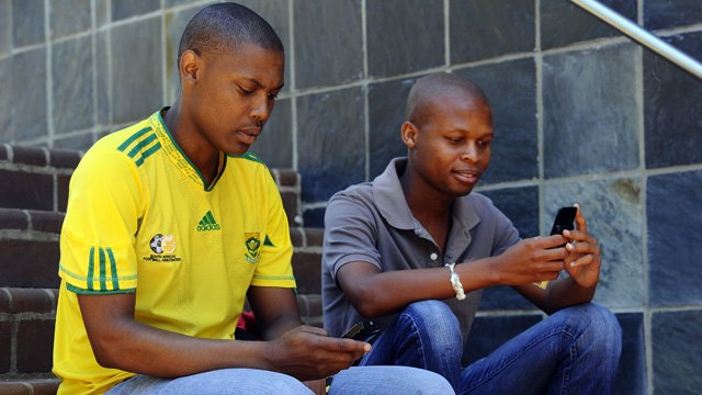 Mobile phone users in South Africa