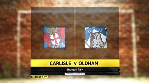 Carlisle 3-3 Oldham