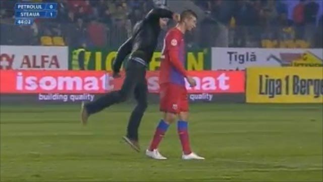 Romanian match abandoned after crowd violence