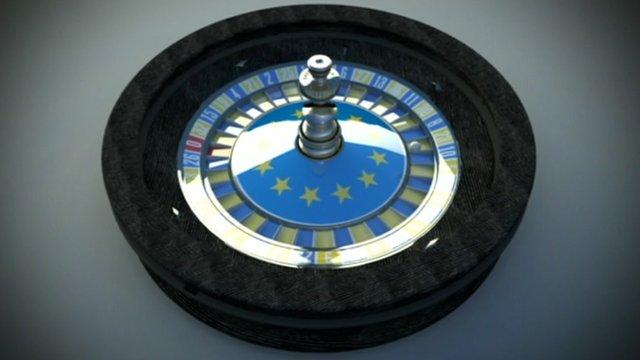 Eurozone roulette graphic