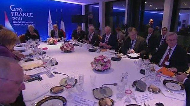 G20 leaders meet in France