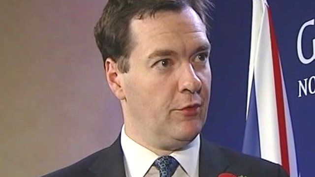 Chancellor George Osborne says the Eurozone members should face up to their responsibilities