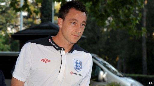 John Terry in the England shirt