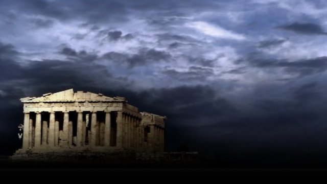 Grey skies over Athens