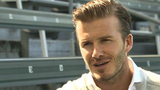 Ex-England captain David Beckham