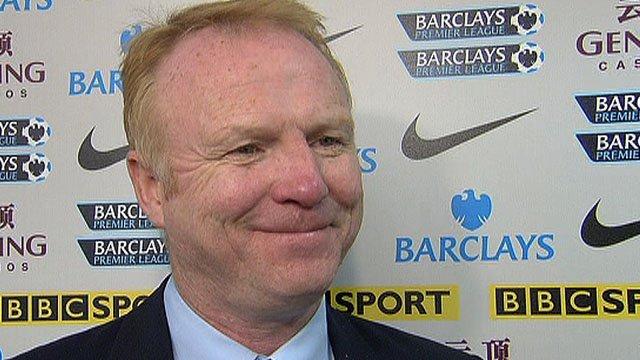 Aston Villa's Alex McLeish