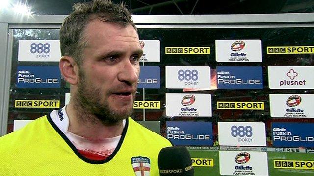 England captain Jamie Peacock