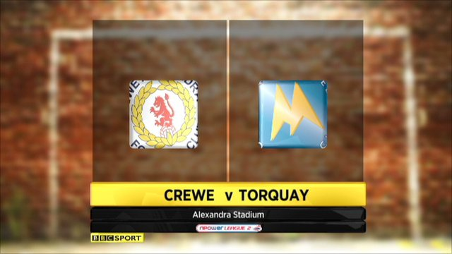 Crewe 0 - 3 Torquay