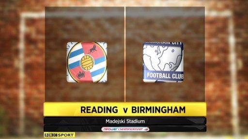 Reading v Birmingham