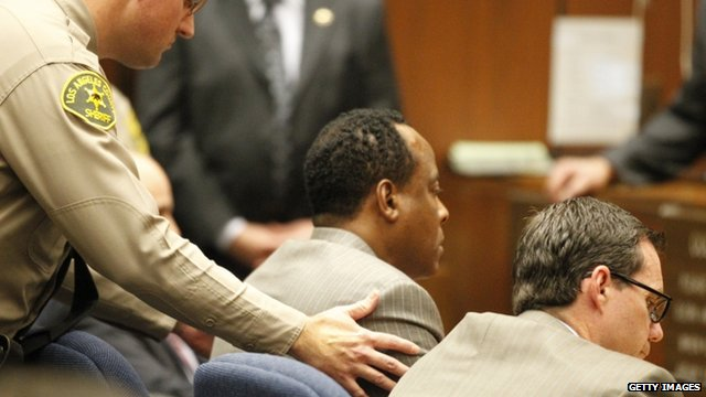 "A Los Angeles County Sheriff""s Deputy remands Dr. Conrad Murray"