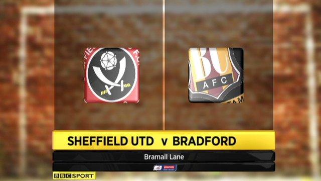 Sheffield Utd 1-1 Bradford (5-6 on pens)