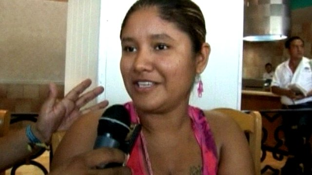 Dainai Hernandez said she was in the prison visiting her husband