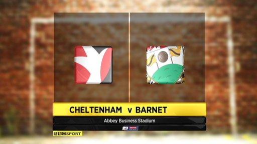 Cheltenham 0-2 Barnet