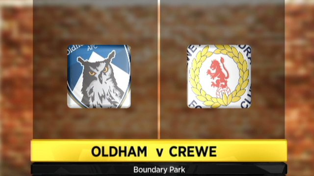 Oldham 3-1 Crewe