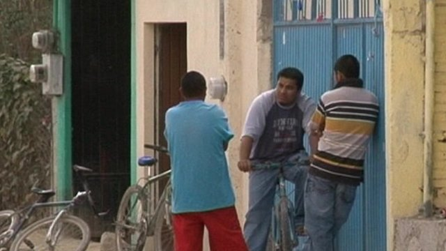 Men on the street in Mexico