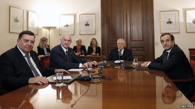 Greek political leaders in a fresh attempt to form a coalition government