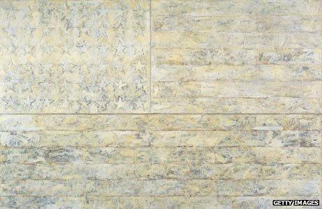 White Flag by Jasper Johns, 1955