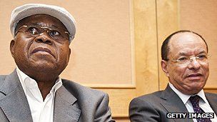 Presidential candidates Etienne Tshisekedi and Kengo wa Dondo
