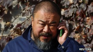 Ai Weiwei at his Beijing studio