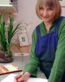 Helen Hanson in her studio